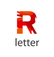 Abstract logo colored letter R vector image