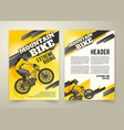 abstract poster of motocross competitions vector image vector image