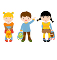 Back to school kids vector image vector image