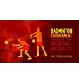 Badminton players mixed doubles team vector image vector image