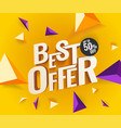 best offer 3d text vector image vector image