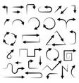 black arrows filigree icons vector image vector image