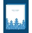 blue white lineart plants Christmas tree vector image