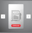 business document file paper presentation line vector image