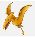 cartoon pterosaurs white background vector image vector image