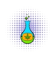 Chemical test tube with marijuana leaf icon vector image vector image