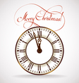 Christmas time clock vector image vector image