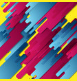 colorful geometry hi-tech abstract background vector image vector image