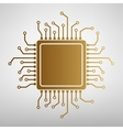 CPU Microprocessor Flat style icon vector image vector image