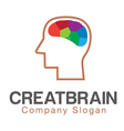 Creative Mind brain Design vector image vector image