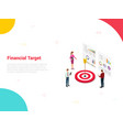 financial target company with big dart and team vector image