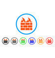 fire wall rounded icon vector image