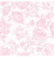 floral seamless pattern pink flower background vector image vector image