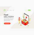 food delivery online grocery shopping concept vector image vector image