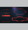 futuristic screens hud gui ui and titles warning vector image vector image