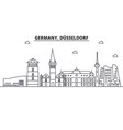 germany dusseldorf architecture line skyline vector image