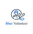 global volunteering save world eco program vector image vector image