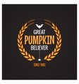 halloween pumpkin believer logo concept background vector image