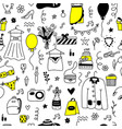 hand drawn shopping seamless pattern vector image