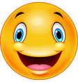 happy smiley emoticon face vector image vector image
