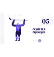 hockey game player website landing page young vector image