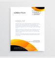 letterhead design in yellow black colors vector image vector image