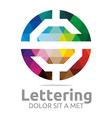lettering s rainbow alphabet design vector image