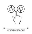 like and dislike buttons click linear icon vector image vector image
