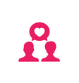 love chat icon on white vector image vector image