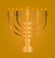 menorah for hanukkah vector image vector image