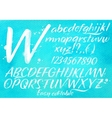 Modern alphabet blue background vector image vector image