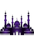 mosque in flat style vector image