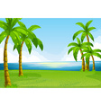 Ocean view vector image vector image