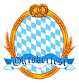 Oktoberfest oval label vector image
