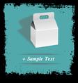 Paper art box vector image