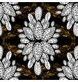 pattern background sketch with gold antique vector image