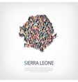 people map country Sierra Leone vector image