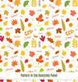 Realistic autumn leaves seamless pattern vector image