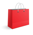 Red paper shopping bag isolated vector image vector image
