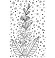 sage - flower black and white ink vector image vector image