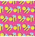 Seamless bee pattern icon Insect Pattern vector image vector image