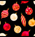 seamless christmas decorations vector image vector image
