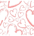 Seamless hand drawn hearts vector image