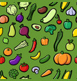 seamless pattern with drawing vegetables vector image