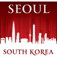 seoul south korea city skyline silhouette red vector image vector image