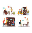 session of psychologist flat compositions vector image