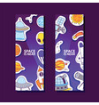 space and planets stickers space is near poster vector image