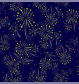 starry firework seamless pattern vector image