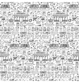 Supermarket hand drawn seamless pattern vector image vector image