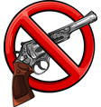 symbol no gun on white background vector image